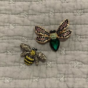 NWOT Jeweled Bug Pins/Brooches